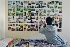 Picture Collage Wall Photo Collage Ideas without Frames 49 Wall Collage without Frames 17 Layout Ideas Collage Mural, Photo Wall Collage, Collage Ideas, Picture Collages, Frames Ideas, Picture Walls, Photo Walls, Collage Frames, Photo Wall Layout