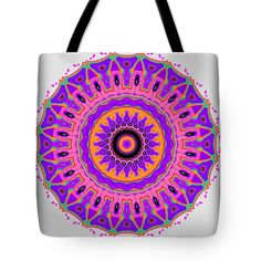 The Nancy Mandala Tote Bag, by Joy McKenzie, in several sizes, on Pixels.com #tote #bag #kaleidoscope #mandala