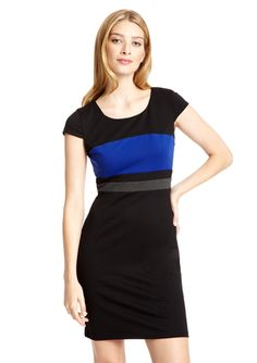 SPENSE Colorblock Shift Dress