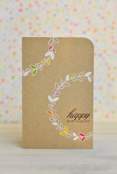 CASE Study #172: Happy Birthday Card | Mayholic in Crafts | Step-by-step tutorial with photos