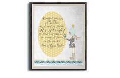 Anne of Green Gables Kindred Spirit Quote   Printable Digital Art   Friendship Inspiration Instant Print   Artsy Print Fun Gift