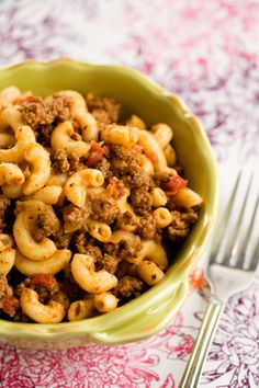 Paula Deen Bobby's Goulash...  For ground bison