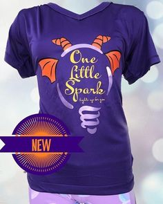 One Little Spark of inspiration is all it took for this creation! New Figment Journey Into Imagination Tee. Run Disney Costumes, Running Costumes, Disney Races, Disney Trips, Spark Light, Plus Size Disney, Disney Marathon, Running Shirts, Disney Shirts