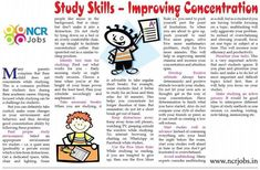 How To #Improve #Concentration!!   www.ncrjobs.in