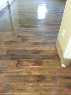 Concrete Floors Stained To Look Like Wood Polished Stamped