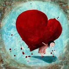 a heavy heart I Love Heart, My Heart, Illustrations, Illustration Art, Jar Of Hearts, Heavy Heart, Heart Art, Be My Valentine, Love Is All