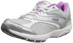 RYKA Women's Dash Shoe,White/Grey/Dark M US. Outsole balance of traction and flexibility. Best Gym Shoes, Mens Walking Shoes, Cheap Shoes Online, Training Shoes, Shoe Collection, Athletic Shoes, Sneakers, Tops, Dark