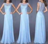 Sexy Women Evening/Prom/ Party Long Dresses with Lace