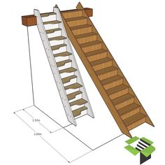 Tiny House Stairs, Loft Stairs, Garage Stairs, Garage Attic, Attic Stairs Pull Down, Folding Attic Stairs, Folding Ladder, Garage Bedroom, Small Garage