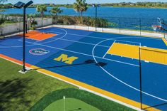 Basketball court in the backyard!