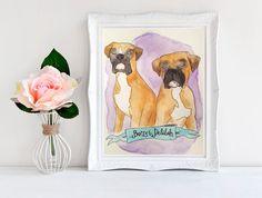 2 Pets Custom Pet Illustration Handmade by BlushandHoneyPaper