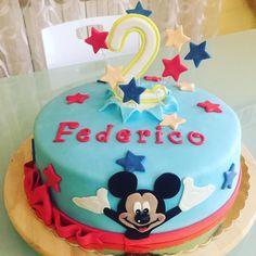 Mickey mouse cake fondant - happy birthday babyboy