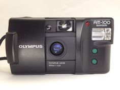 [TESTED] **Near MINT**Olympus AM100 35mm f/3.5 Point & Shoot Film Camera w/strap #Olympus