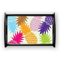 Colorful pineapples patterns Coffee Tray