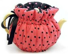 Tea Cozy Fully Lined in Contrast Fabric Made in the USA Fabulous Quality 8 Cup Size (Pink Polka Dots) - - This is the best cozie we have ever carried. Even the fabulous fabrics are US m Yellow Teapot, Finger Knitting, Free Knitting, Tea Cozy, Fabulous Fabrics, Pink Polka Dots, Craft Work, Cosy, Tea Party