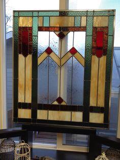 Custom glass in antique front door