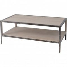 The Marseille Coffee Table is full of industrial style charm.  The natural wood finish is complemented by the aged metal framework to give i...