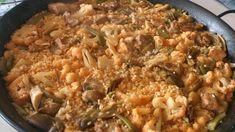 Paella de costillas y coliflor