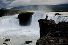Iceland honeymoon photo -Godafoss