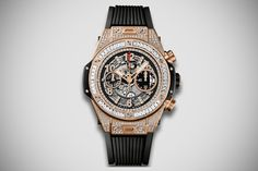Hublot Big Bang Unico King Gold Jewellery Watch With 436 Diamonds - Enough for Swagger in your Streetstyle! - Madeofmillions.com