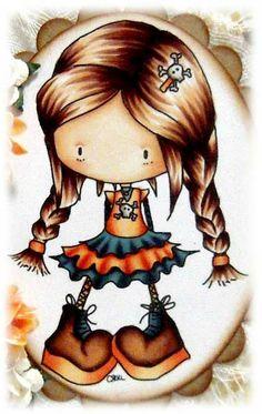 Kit and Clowder: Lilli Lolita Skin: E000, E00, E21, E11, R11 Hair/Boots: E21, E25, E29 Dress: Orange E93, E95, YR02, YR61, YR07 Blue BG72, B97, B99