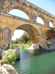 Pont du Gard, Uzes, Francee--this was built by the romans to bring water to various cities