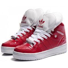 DAMES Adidas Originals Metro Attitude Logo Heart Sneakers / Schoenen - University Red/Red/White