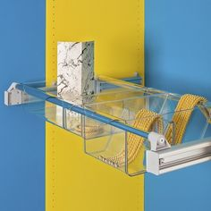 A truly innovative option for drawer-like storage, ideally suited for, but not limited to, wardrobes. A pull out frame that adjusts for spaces from 750mm to 1150mm wide, plus tough polycarbonate boxes that slot onto the frame. Contents are easily visible in these clear boxes that come in three sizes. Shown here - a mixed set up with one large and one two-space box. Order the frame and the boxes you desire, or order one of our complete kits.