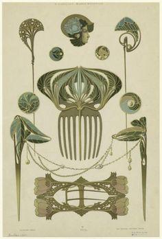 Rene Beauclair designs, 1900