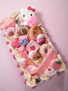 Sweet Stuff Hello Kitty Kawaii Decoden Deco Case by Lucifurious, $45.00