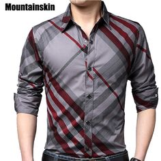 Mountainskin Casual Striped Men Shirts Slim Fit Male Social Shirts Brand Long Sleeve Business Shirt Men Clothes Spring is part of Business shirts men Buy Mountainskin Casual Striped Men Sh - Preppy Mens Fashion, Latest Mens Fashion, 70s Fashion, Fashion Boots, Fashion Trends, Business Shirts, Business Clothes, Business Casual, Stylish Outfits