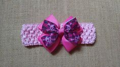 Pink Skull Headband Baby Headband Girls by GloriaMillerCreation