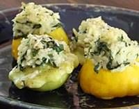 Stuffed Patty Pan Squash - Patty Pan Squash With Rice Stuffing http://southernfood.about.com/od/summersquash/r/r90708a.htm