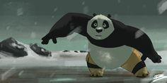 the fight between PO and Kai Kung Fu Panda 3, Fan Art, Kai, Batman, Superhero, Artwork, Fictional Characters, Work Of Art, Fanart