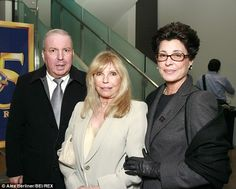 Tina Sinatra looks so elegant & classy.  The times coming to change my look from a long Nancy style to something more like Tina's.   Celebrate:Frank Jr, Nancy and Tina Sinatra pictured at the 85th Anniversary of Warner Brothers Studio in Burbank, California