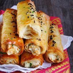 Turkish boregi sigara swirls with filo pastry (in Polish)