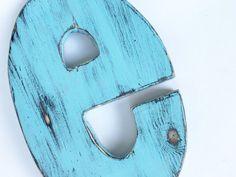 Last piece Wooden letter e wall letter Decor turquoise letter living room decor pine wood Nursery kid decor Shabby letter Distressed Wooden Letter Crafts, Wood Crafts, Rustic Letters, Wooden Letters, Letter E, Letter Wall, Kid Decor, Wall Decor, Wood Nursery