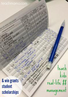 teach kids real life money management win grants and scholarships  teachmama.com