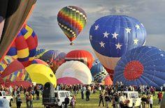 Ready. Set. Fly! Watch Hot Air Balloons take off at the Albuquerque International Balloon Fiesta http://www.balloonfiesta.com/