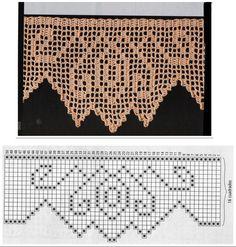 Para quem acha que fazer crochê é uma forma de se descontrair, então aí está mais três modelos de barrados com gráficos para vocês re...