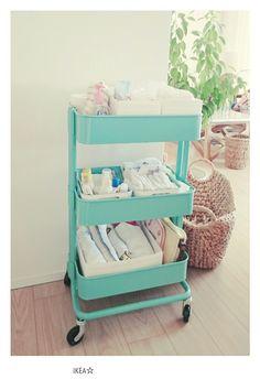 IKEAの大人気ワゴンの使い方☆赤ちゃんのお世話グッズ収納 |'好き'だけに囲まれたシンプルライフ☆ハワイ好き整理収納アドバイザー マエナナ ☆