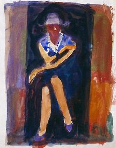 "urgetocreate: ""Richard Diebenkorn, Untitled watercolor on paper """