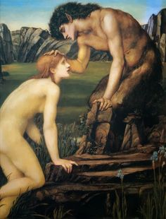 Psyche and Pan by Edward Burne Jones