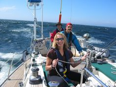 Yes its fun. This is the start of our salt water trip, the gulf of St Lawrence. Then we were hit with our first gale in the Cabot straight and limped in slowly wet and tired at night to Port Aux Basques NL.