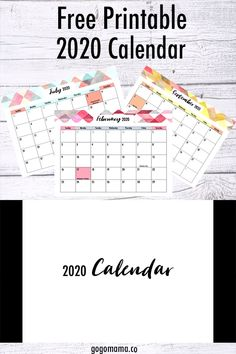 Free 2020 Calendar Printable Free 2020 Calendar Printable Gogo Mama Printables for the Home and Daily Life gogomamaco Kids and parenting Start your nbsp hellip hacks videos Printable Calendar 2020, Monthly Planner Printable, Free Printable Calendar, Print Calendar, Free Printables, Bullet Journal Calendar Printable, Calendar Printing, Monthly Calendars, Calendar Ideas