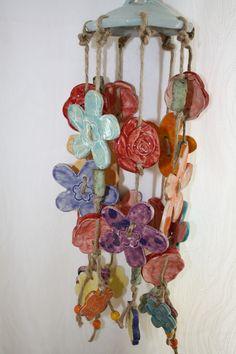Windspiele - Windspiel Gartenkeramik - ein Designerstück von Konform-art bei DaWanda