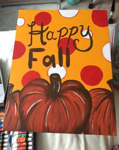 happy fall decoration canvas painting