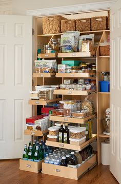 Kitchen Pantry Cabinet With Drawers Kitchen Pantry Design, Kitchen Pantry Cabinets, Kitchen Cabinet Organization, Pantry Storage, Kitchen Drawers, Kitchen Storage, Kitchen Decor, Kitchen Ideas, Drawer Storage