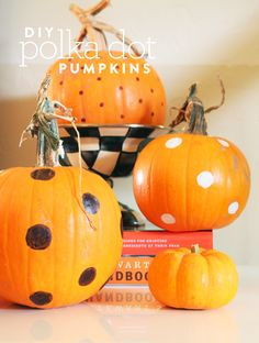 DIY: Polka dot pumpk