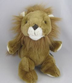 Toys R US Animal Alley Plush Stuffed Brown Lion Furry White Soft Cute | eBay